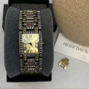 Heidi Daus Art Deco Multi Crystal Bracelet Watch